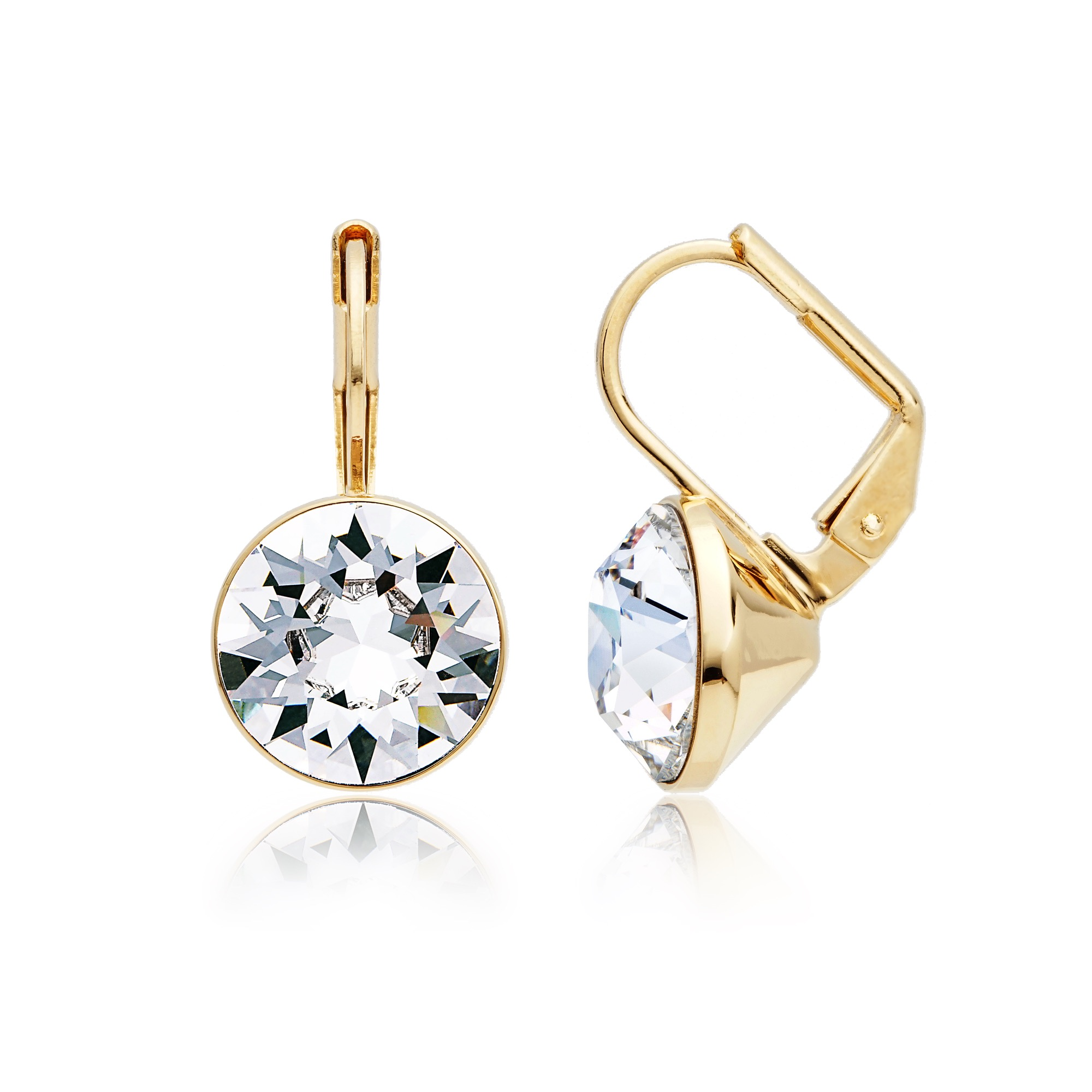 a9cad3ce636961 Bella Earrings with 4 Carat Clear Swarovski® Crystals Gold Plated