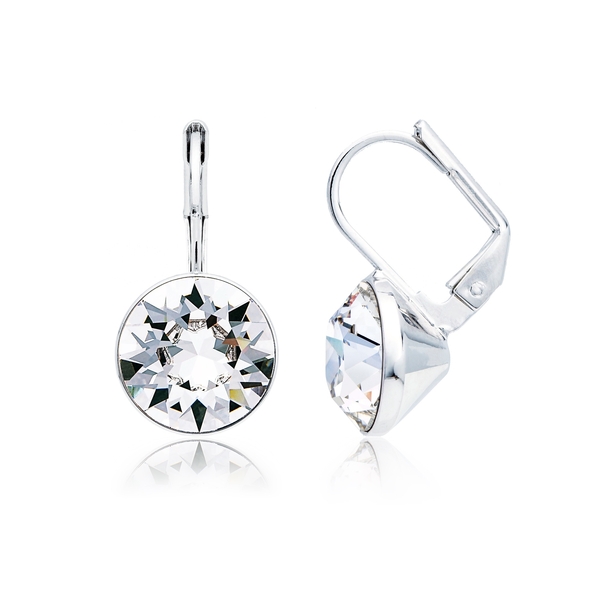 369d1efe0 Bella Earrings with 4 Carat Clear Swarovski® Crystals Rhodium Plated