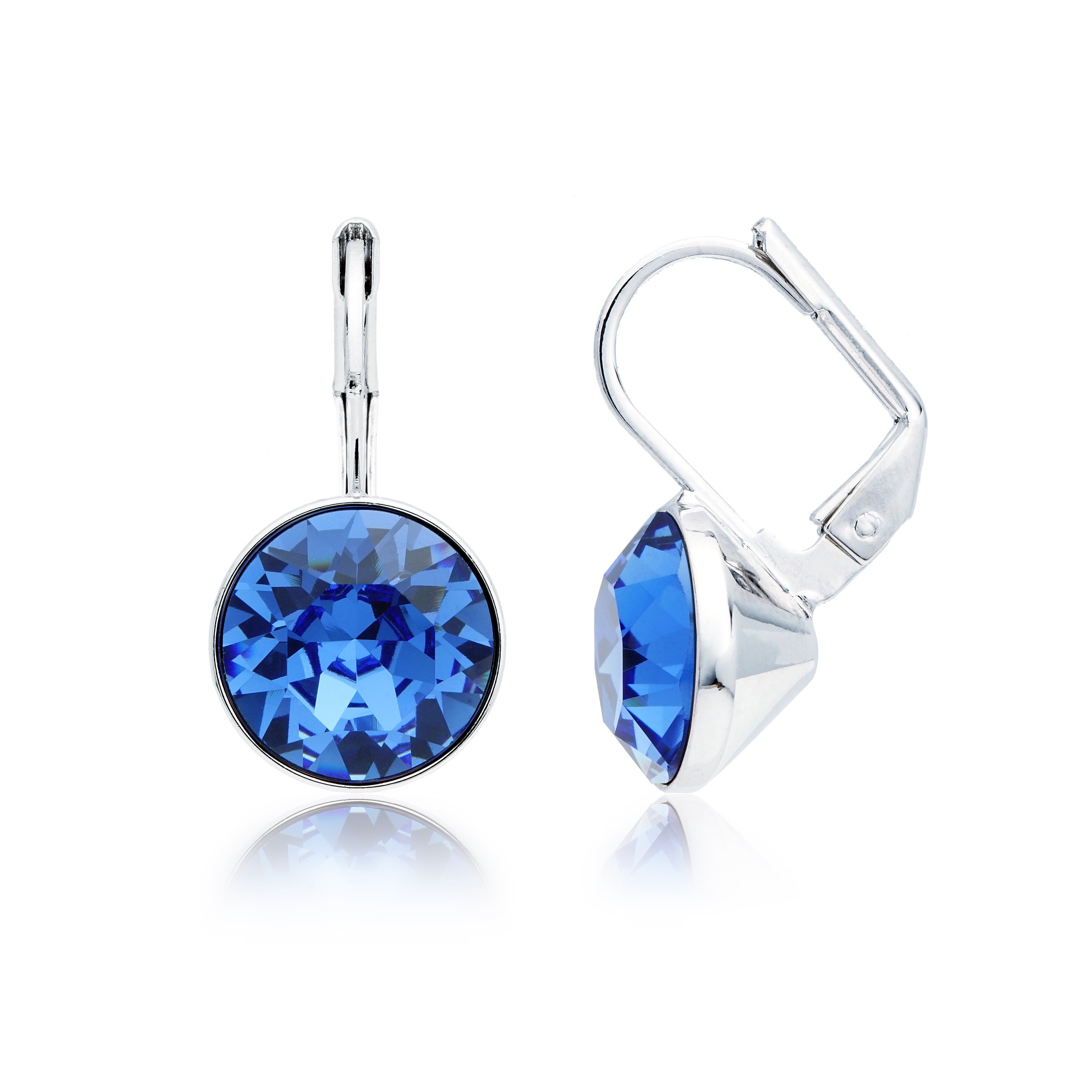 Bella Earrings With 4 Carat Shire Crystals Rhodium Plated