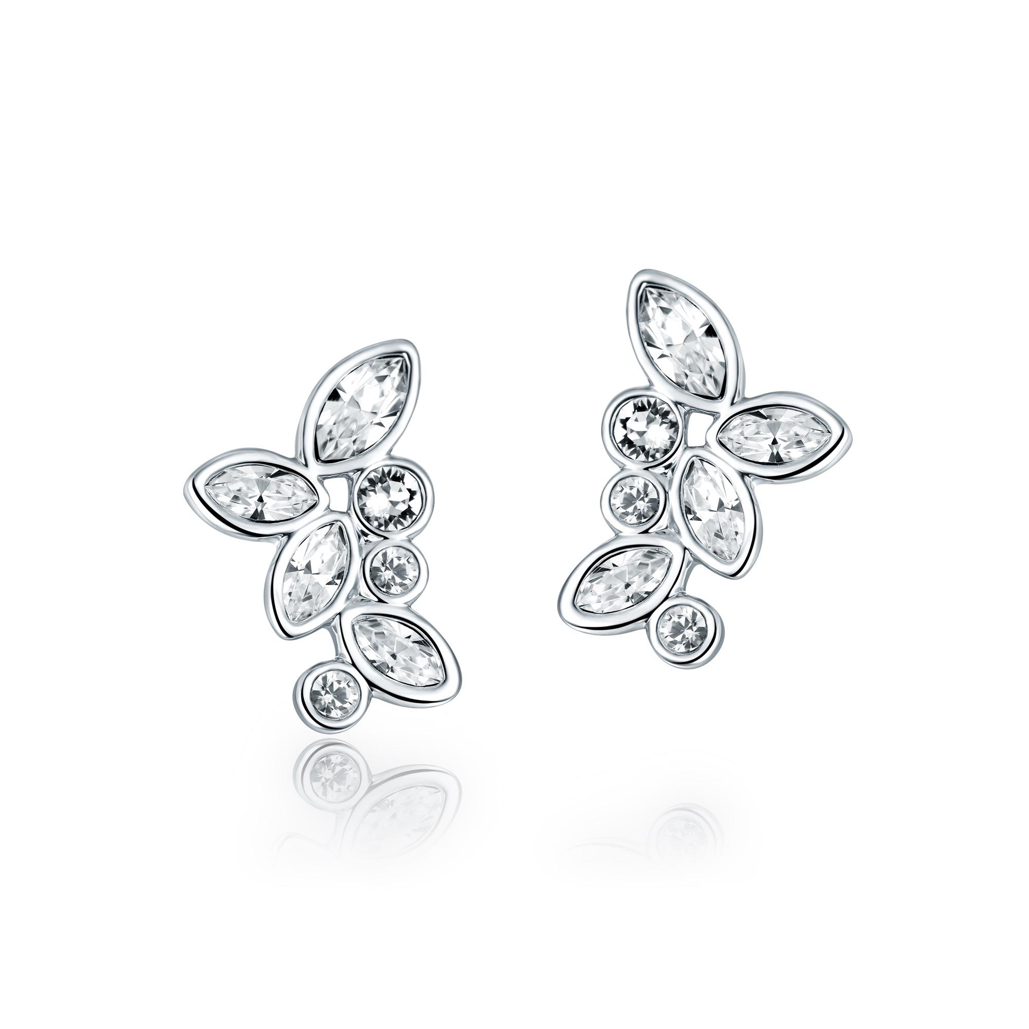 b909561aa Enchanted Stud Earrings with Swarovski® Crystals Rhodium Plated